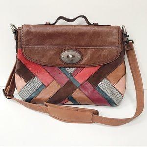 "FOSSIL 'Long Live Vintage"" Leather Color Patch Bag"